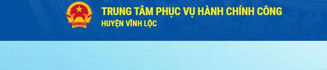 Trung tâm phục vụ hành chính công huyện Vĩnh Lộc